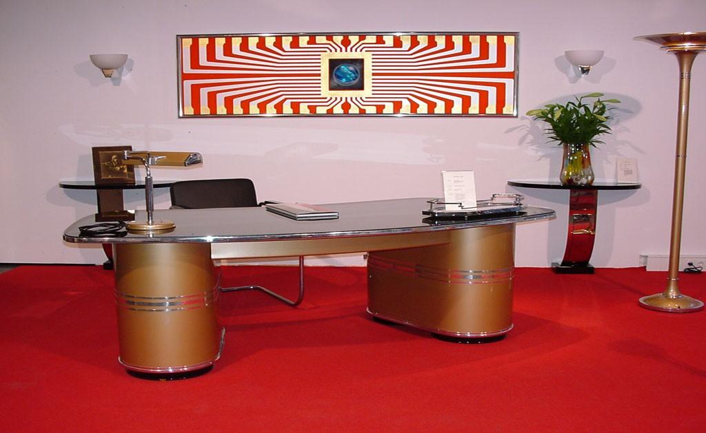 Schreibtisch mauser rundform modell ruhr josephs art for Schreibtisch 2 00 m