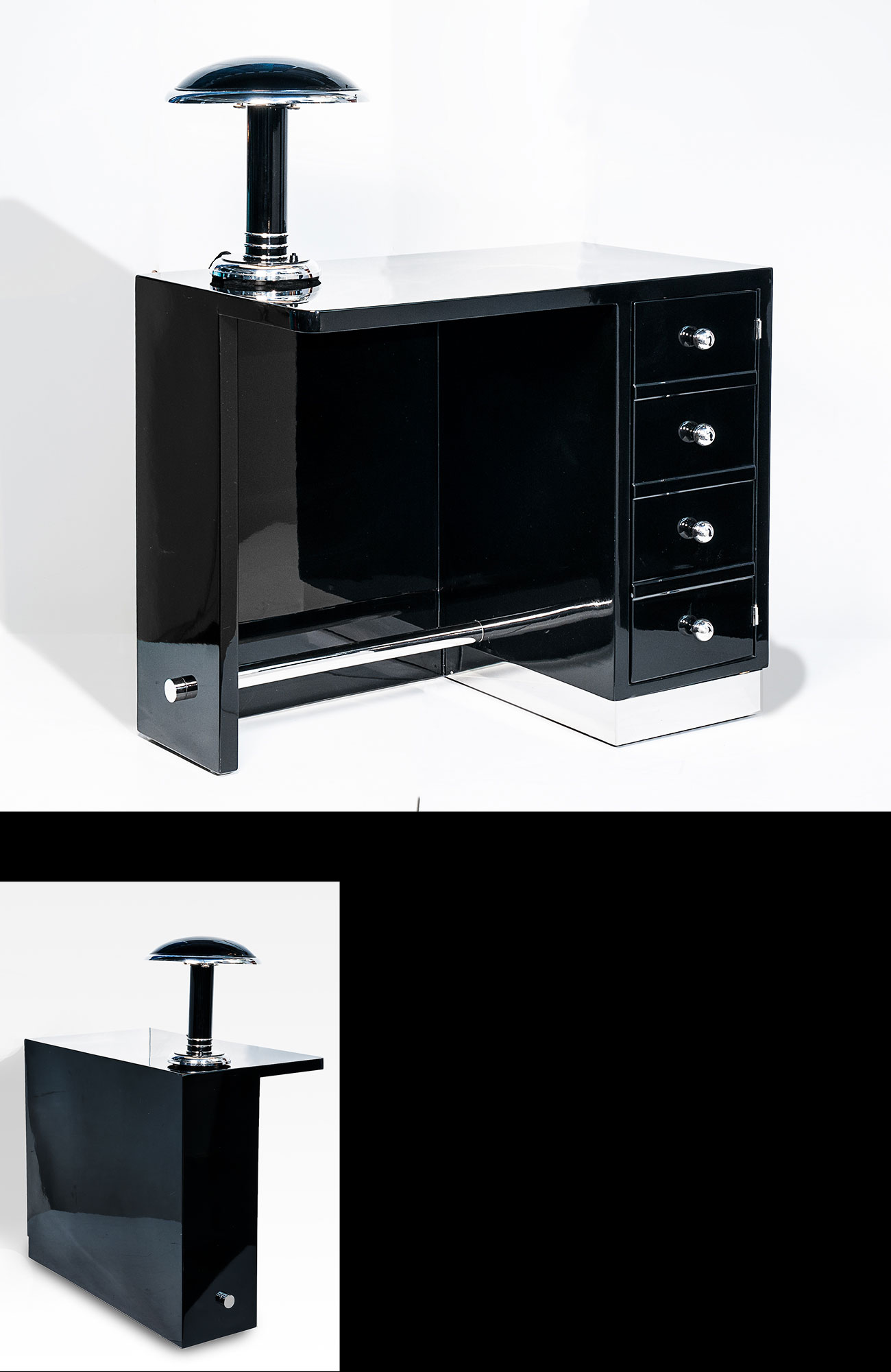 Schreibtisch Klein & Fein asymmetrisch