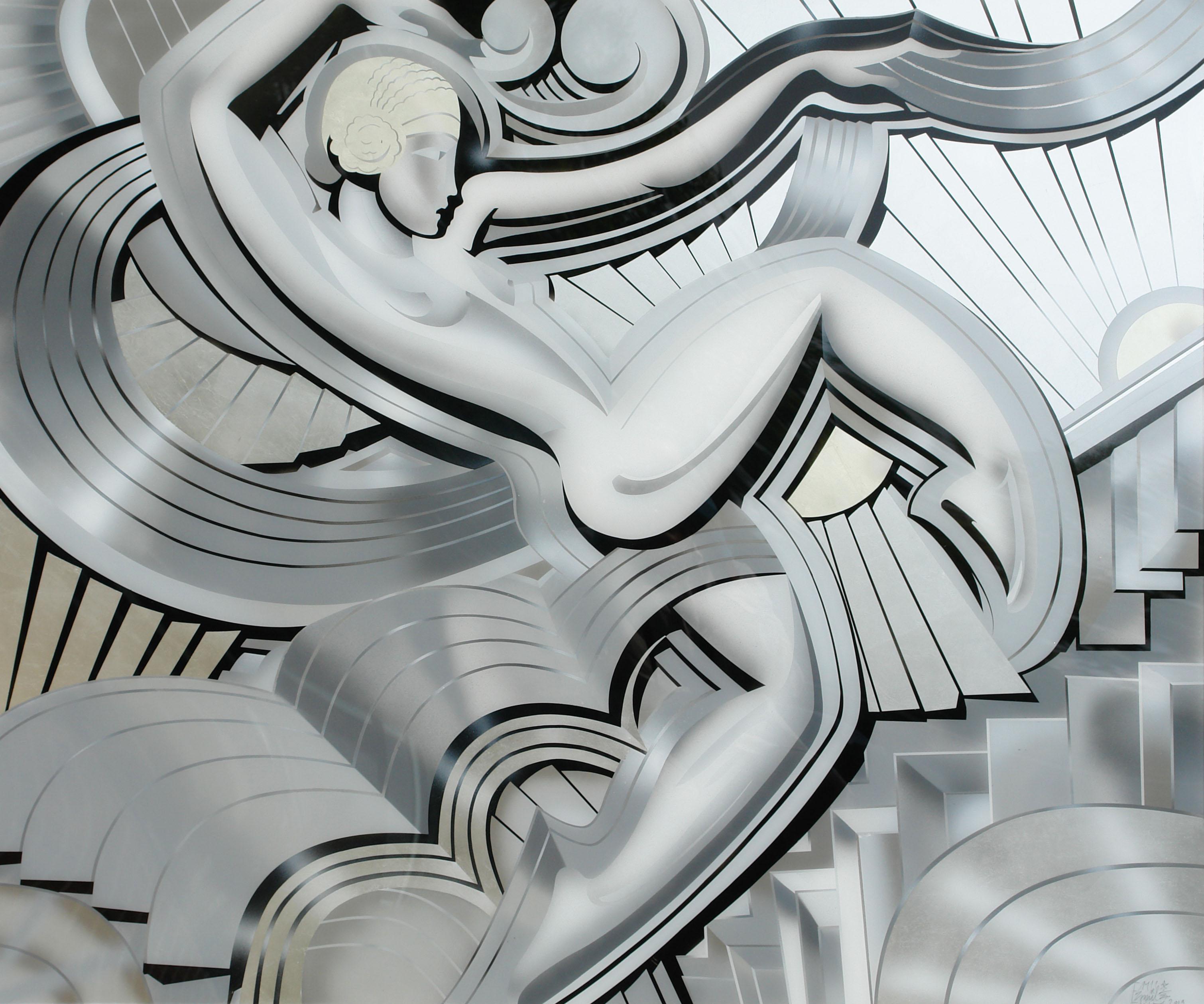 """Hinterglasmalerei Bild """"La Danse"""""""