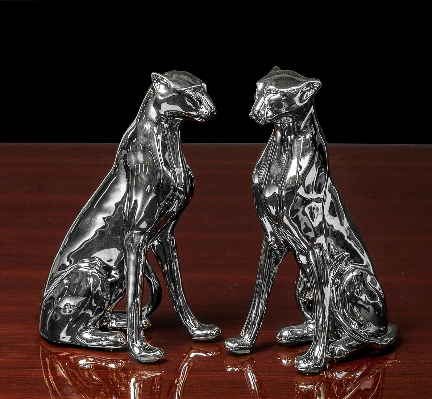 Porzellanskulptur Gepard