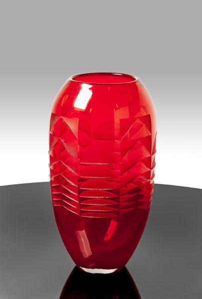 Vase mit geometrischem Dekor