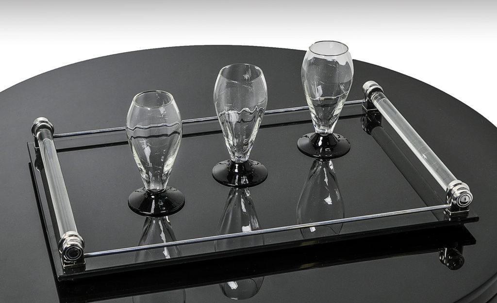 Tablett elegantes model josephs art interior for Schwarzes glas